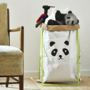 Halterung neon mit Papiersack Panda