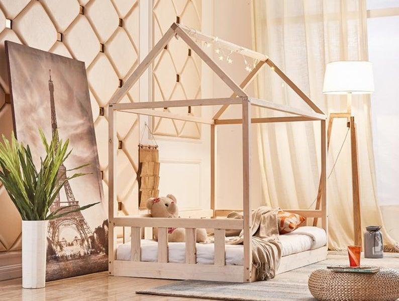 Montessori Hausbett Kiefer - Flexa Cottage Hausbett - die fünf schönsten Hausbetten