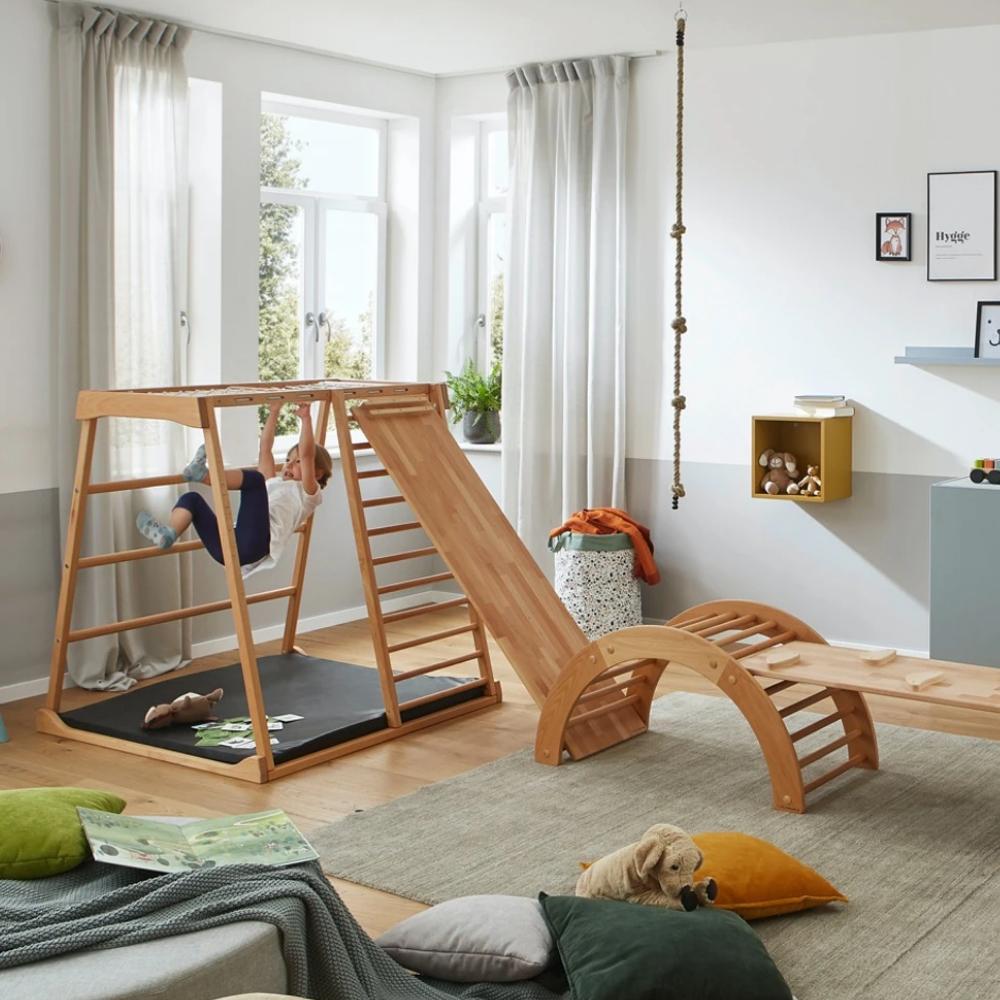 Ecolignum Kinder-Klettergerüst Oskar Kletter- und Turngeräte für Innen